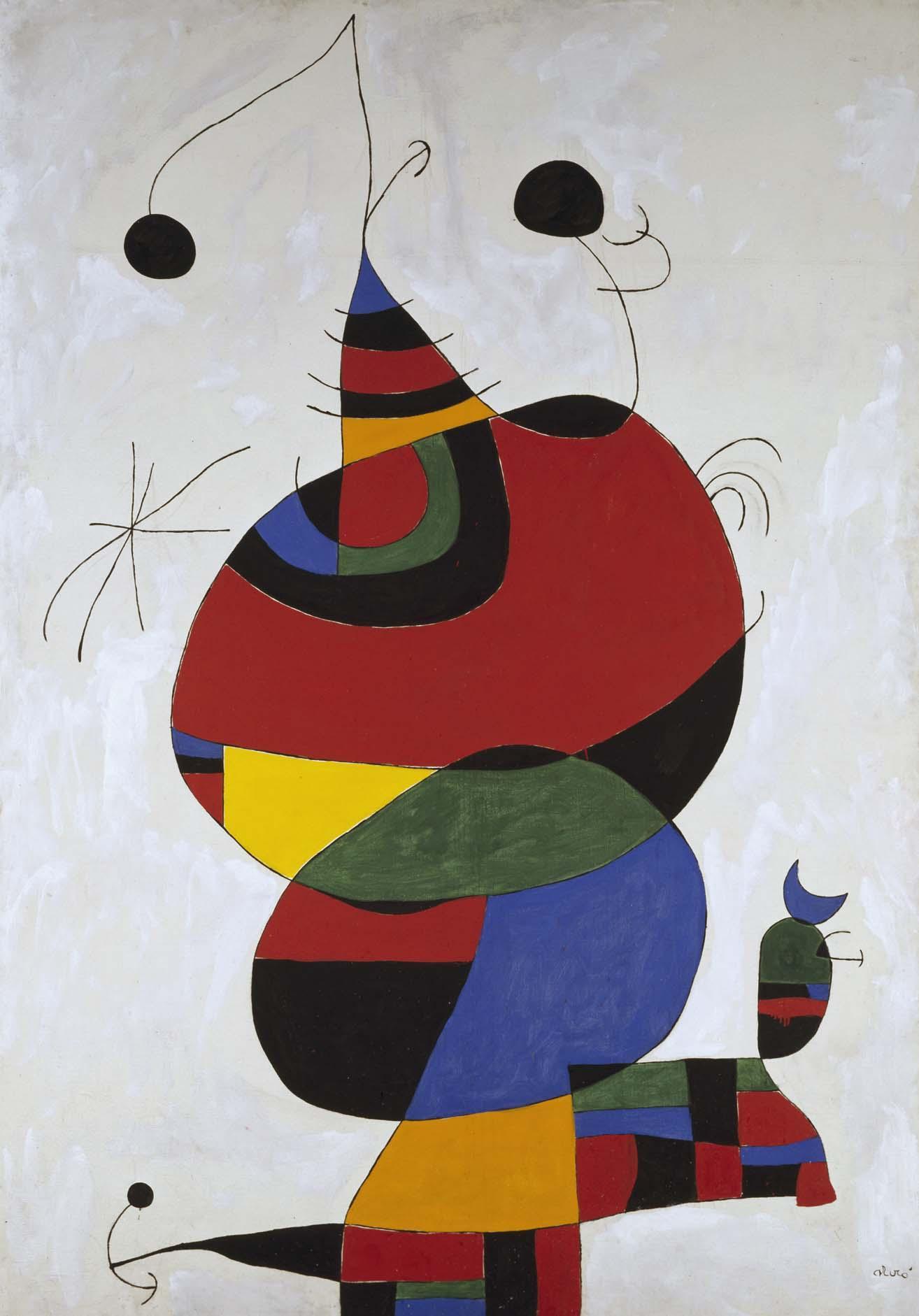 Joan Miró Femme Oiseau étoile Homenatge A Pablo Picasso Mujer