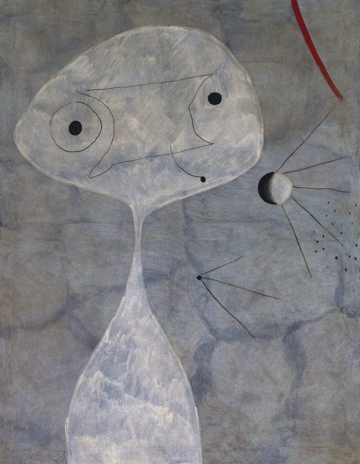 Joan Miró - Pintura (Hombre con pipa)