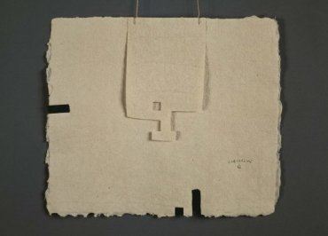 Eduardo Chillida. Gravitación I, 1987-1988. Colage sobre papel, 20 x 23,5 cm