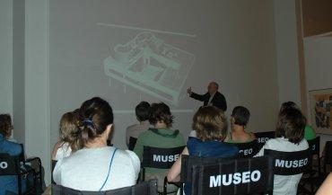 Una de las sesiones dedicadas a Le Corbusier con el profesor Juan Calatrava. Museo Reina Sofía, 2007