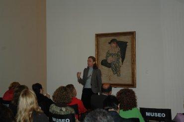 María Dolores Jiménez Blanco, durante una de las sesiones. Museo Reina Sofía, 2008