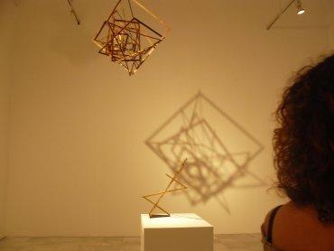 Visitante en una de las salas objeto de la visita. Museo Reina Sofía, 2008