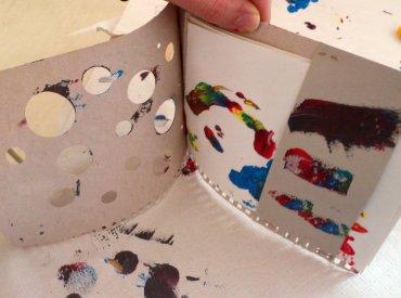 Cuaderno de artista creado por un asistente al taller