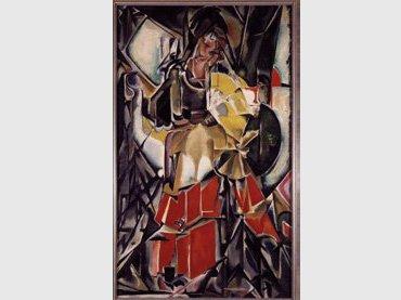 María Blanchard. Mujer con abanico, 1916. Óleo sobre lienzo Colección del Museo Nacional Centro de Arte Reina Sofía