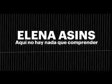 There Is Nothing to Understand Here. A documentary on Elena Asins