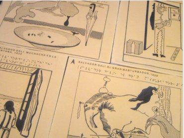 Diagramas táctiles de varias obras de Dalí
