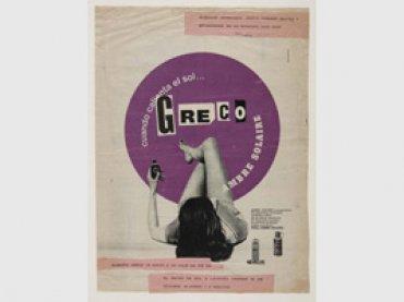 Alberto Greco, Cuando calienta el sol, 1964. Collage sobre papel, 36 x 27 cm