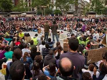 Adolfo Senbra. Popular assembly in Valencia, 2011