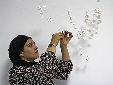 Safaa Erruas in her workshop in Tetouan, Morocco, 2014
