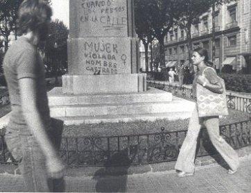 Colita (Isabel Steva Hernández). Pintada. Fotografía, 1976. Archivo Vindicación Feminista