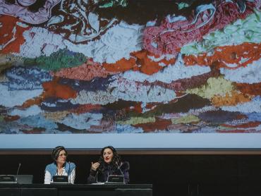Pilar Albarracín y María Arjonilla en la 21ª Jornada de Conservación de Arte Contemporáneo, 2020