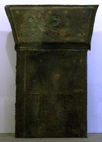 Julian Schnabel. Epitafio (L.S.J.T) (Panel tumba V), 1989. Escultura. Colección Museo Nacional Centro de Arte Reina Sofía, Madrid