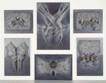 Manuel Rivera. Retablo para las víctimas de la violencia, 1977-1979. Pintura. Colección Museo Nacional Centro de Arte Reina Sofía, Madrid