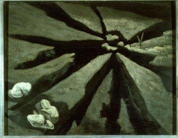 Maruja Mallo. Tierra y excrementos, 1932. Pintura. Colección Museo Nacional Centro de Arte Reina Sofía
