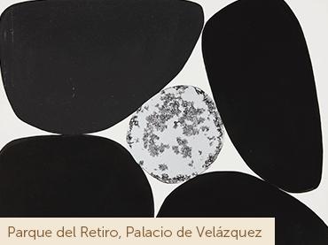 Anna-Eva Bergman, Nº 76-1970 Pierre de Castille 6, 1970. Tinta china y hoja de metal sobre papel. Fondation Hartung-Bergman, Antibes © Anna-Eva Bergman, VEGAP, Madrid, 2020