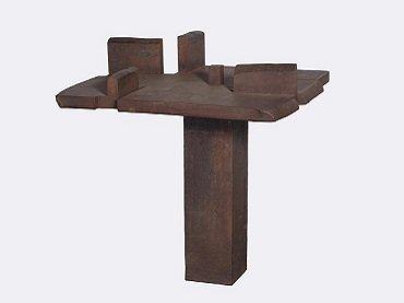Eduardo Chillida. La mesa de Giacometti, 1988. Escultura. Colección Museo Nacional Centro de Arte Reina Sofía, Madrid