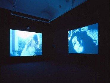 Vista de sala de la exposición. Janaina Tschäpe. Sala de espera, 2001