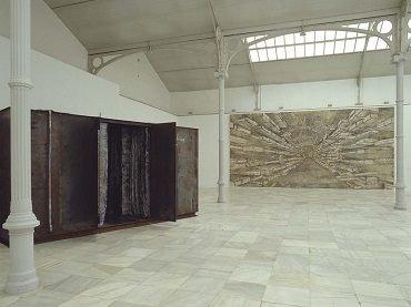 Vista de sala de la exposición. Anselm Kiefer. El viento, el tiempo, el silencio, 1998