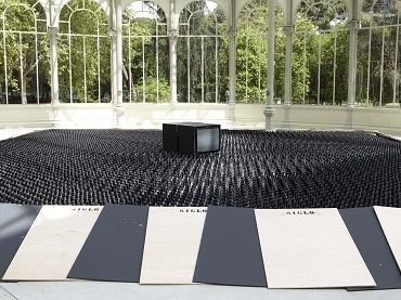 Exhibition view. Nacho Criado. Collaborating Agents, 2012