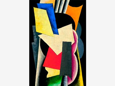 Liubov Popova. Arquitectura pictórica (Bodegón: Instrumentos), 1915. Óleo sobre lienzo. Museo Thyssen-Bornemisza, Madrid