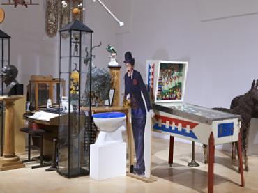 Vista de sala de la exposición El tiempo y las cosas. La casa-estudio de Hanne Darboven, 2014