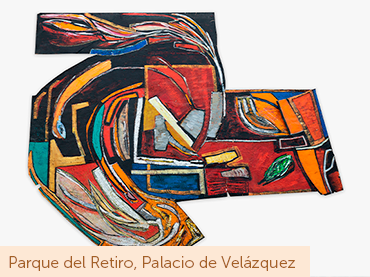 Vivian Suter, Sin título, ca. 1980. Técnica mixta sobre papel. Colección de la artista