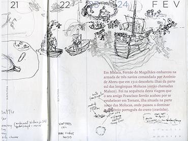 Kidlat Tahimik, Bocetos del artista para su instalación en el Palacio de Cristal del Parque del Retiro, 2020