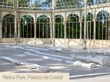 View of the exhibition Pep Agut. Madrid Meridian: Dream and Lie
