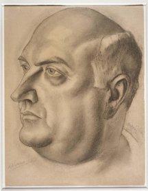 Daniel Vázquez Díaz. Adriano del Valle, ca. 1942. Obra sobre papel, dibujo. Museo Nacional Centro de Arte Reina Sofía