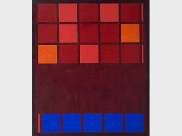 Mohamed Melehi, IBM, 1962. Mathaf: Arab Museum of Modern Art – Qatar Museums and Qatar Foundation © Mohamed Melehi, VEGAP, Madrid, 2021