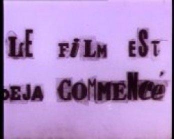 Maurice Lemâitre. Le film est dèjá commencè?,1951