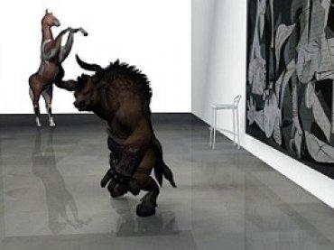 Daniel G. Andújar. CCTV Guernica, 2014. Vídeo 5', color, sin sonido. Animación 3D
