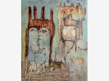 Farid Belkahia, Guerreros, 1962. Mathaf: Arab Museum of Modern Art, Doha © Farid Belkahia