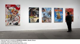 Vista de sala de la exposición de Patricia Gadea, Atomic-Circus