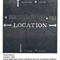 Robert Morris, Location, 1963