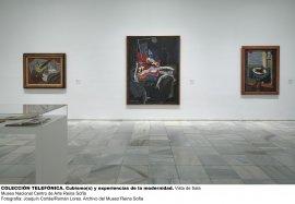 Vista de sala de Colección Telefónica. Cubismo(s) y experiencias de la modernidad