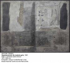 Antoni Tàpies. Superposición de materia gris, 1961
