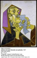 Pablo Picasso. Cabeza de mujer llorando con pañuelo, 1937