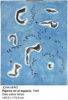 Joan Miró. Pájaros en el espacio, 1946. Óleo sobre lienzo. 145,5 x 113,5 cm