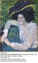 Busto de mujer sonriente (1901). Pablo Picasso