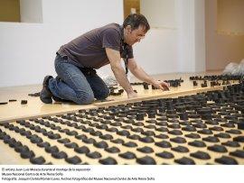 Juan Luis Moraza. Montaje de la exposición
