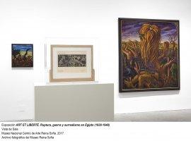 Vista de sala de Art et Liberté. Ruptura, guerra y surrealismo en Egipto (1938-1948)