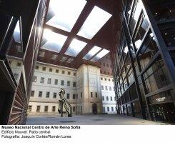 Museo Reina Sofía. Patio central, edificio Nouvel. Fotografía: Joaquín Cortés/Román Lores