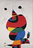 Joan Miró.  Mujer, pájaro, estrella (Homenaje a Pablo Picasso), 1966-1973. Museo Nacional Centro de Arte Reina Sofía