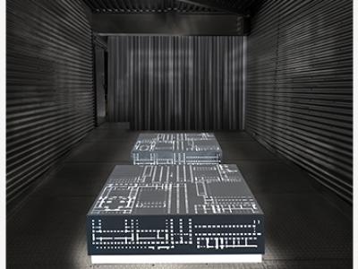 Fotomontaje para la instalación Los museos que no han sido en Cubierta, Edificio Nouvel, Museo Reina Sofía, 2021