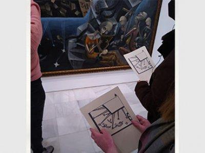 Visita En detalle: Un mundo en el Museo Reina Sofía, 2021. Fotografía: Javier Sanjurjo
