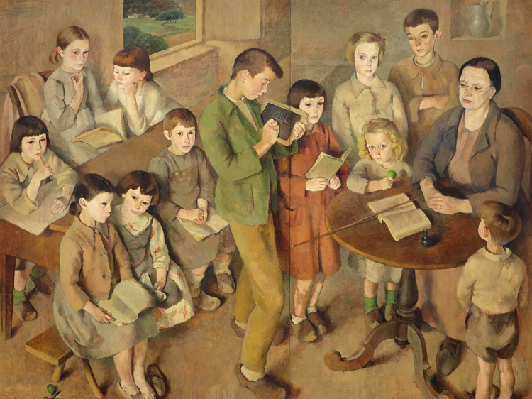 Julia Minguillón, Escuela de Doloriñas, ca. 1941