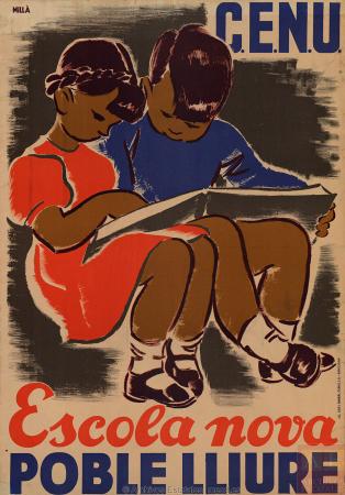 Carme Millà, Escola nova: Poble lliure, ca. 1936-1937. España. Ministerio de Cultura y Deporte. Centro Documental de la Memoria Histórica. PS-CARTELES,26