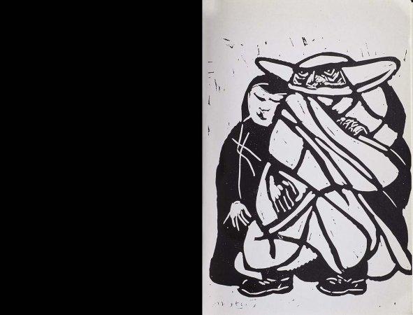 VV. AA., España canta a Cuba, París: Ruedo Ibérico, 1962. Ilustración, Francisco Mateos, s/p. Fondos del Centro de Documentación del Museo Nacional Centro de Arte Reina Sofía (RESERVA 4750)
