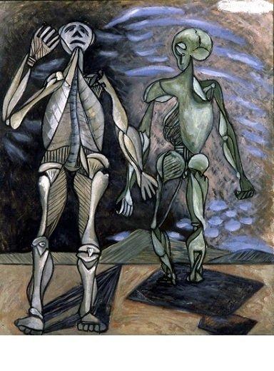 David Smith, <em>Untitled</em>, 1936. Óleo sobre lienzo sin estirar, (90.2 x 76.2 cm). (c) Estate of David Smith/VAGA, NY.